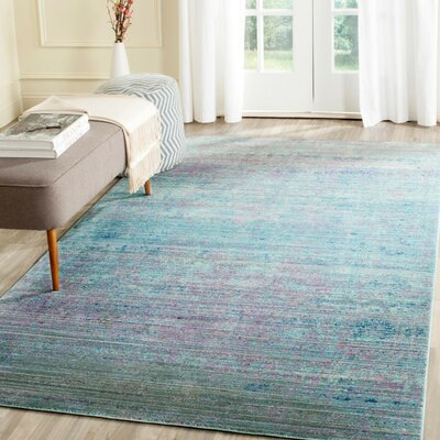 Doline Turquoise/Purple Area Rug Rug Size: Rectangle 4 x 6, Color: Turquoise