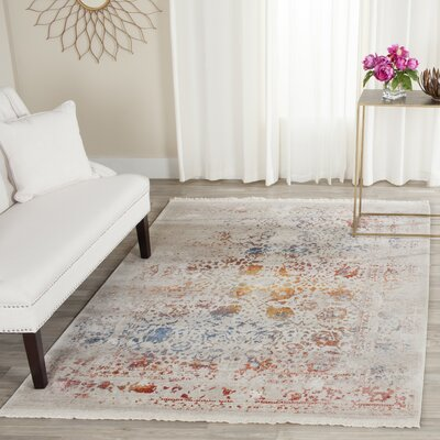Luca Light Gray Area Rug Rug Size: Rectangle 4 x 6