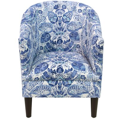 Diana Barrel Chair Upholstery: Byzantine Damask Porcelain