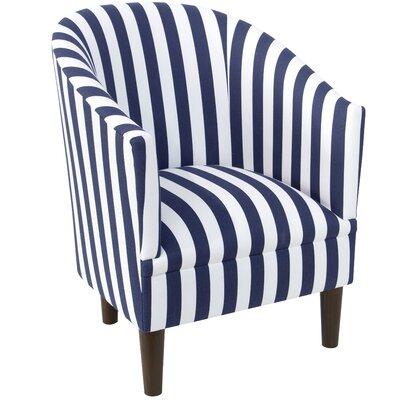 Slama Barrel Chair Upholstery: Blue/White