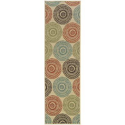 Douane Beige/Blue Indoor/Outdoor Area Rug Rug Size: Runner 2'3