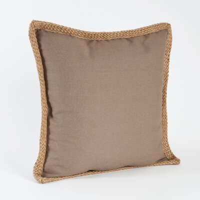 100% Cotton Throw Pillow Color: Shiitake
