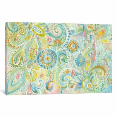 Spring Dream Paisley Painting Print on Wrapped Canvas Size: 12