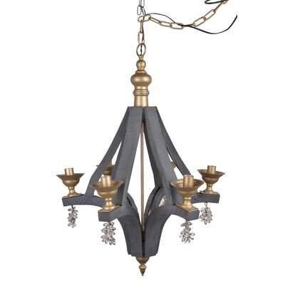 Lara 6-Light Candle-Style Chandelier