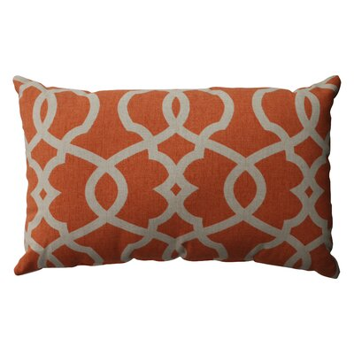 Brennan Cotton Lumbar Throw Pillow Color: Tangerine