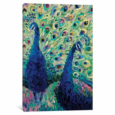 Gemini Peacock Painting Print on Wrapped Canvas