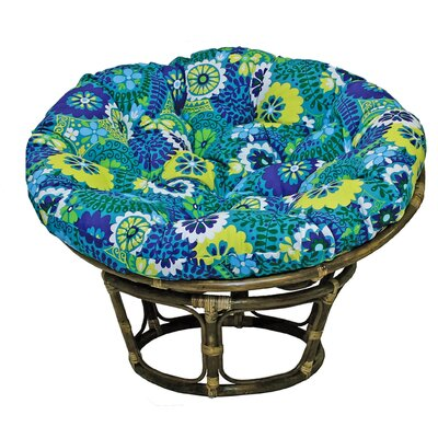 Benahid Papasan Chair Upholstery: Luxury Azure