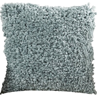 Linley Shag Throw Pillow Color: Blue