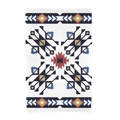 Willa Jodhpur Border 4 Beach Towel Color: Navy Blue