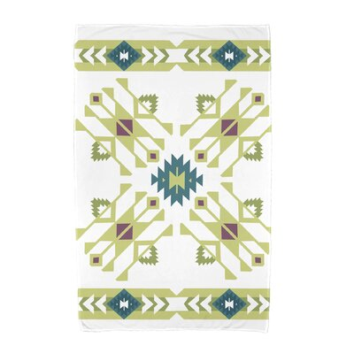 Willa Jodhpur Border 4 Beach Towel Color: Green