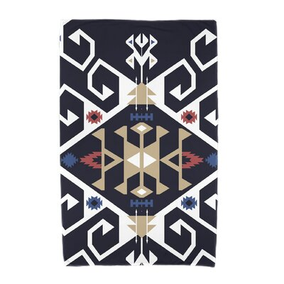 Willa Jodhpur Medallion Beach Towel Color: Navy Blue