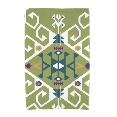Willa Jodhpur Medallion Beach Towel Color: Green
