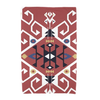 Willa Jodhpur Medallion Beach Towel Color: Coral