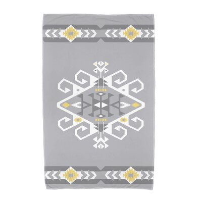 Willa Jodhpur Border 3 Beach Towel Color: Gray