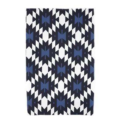 Willa Jodhpur Kilim Geometric Print Beach Towel Color: Navy Blue