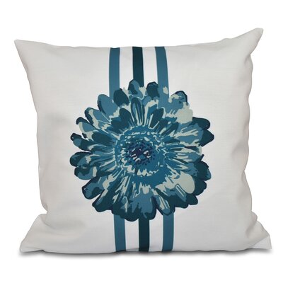 Willa Flower Child Throw Pillow Size: 26 H x 26 W, Color: Teal