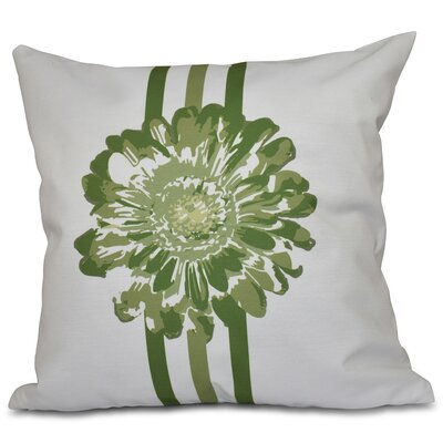 Willa Flower Child Throw Pillow Size: 26 H x 26 W, Color: Green