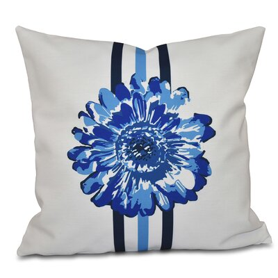 Willa Flower Child Throw Pillow Size: 26 H x 26 W, Color: Blue