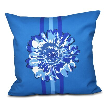Willa Flower Child 2 Throw Pillow Color: Blue, Size: 18 H x 18 W