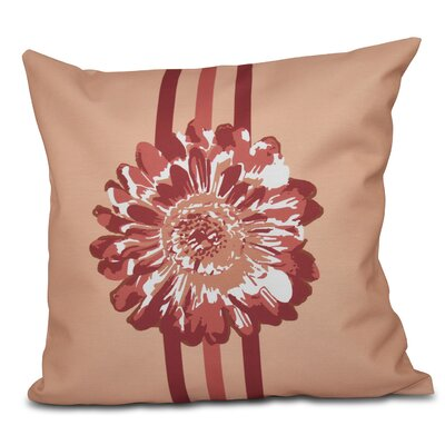 Willa Flower Child 2 Throw Pillow Size: 16 H x 16 W, Color: Coral