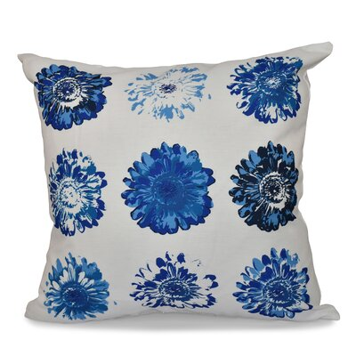 Willa Gypsy Floral Print Throw Pillow Size: 16 H x 16 W, Color: Blue/Coral