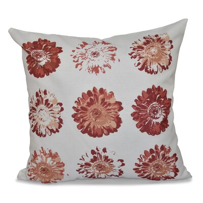 Willa Gypsy Floral Print Throw Pillow Size: 16 H x 16 W, Color: Coral