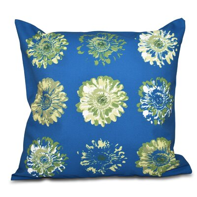Willa Gypsy Floral 2 Print Throw Pillow Size: 18 H x 18 W, Color: Teal/Green