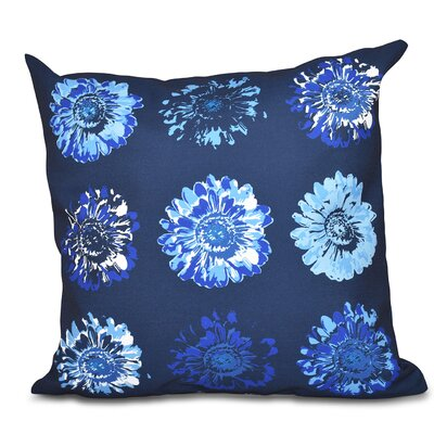 Willa Gypsy Floral 2 Print Throw Pillow Size: 16 H x 16 W, Color: Navy Blue