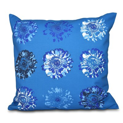 Willa Gypsy Floral 2 Print Throw Pillow Size: 26 H x 26 W, Color: Teal