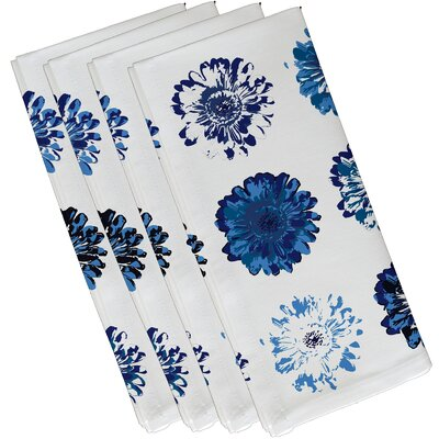 Willa Gypsy Floral Print Napkin Color: Blue