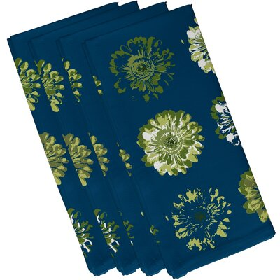 Willa Gypsy Floral 2 Print Napkin Color: Teal/Green