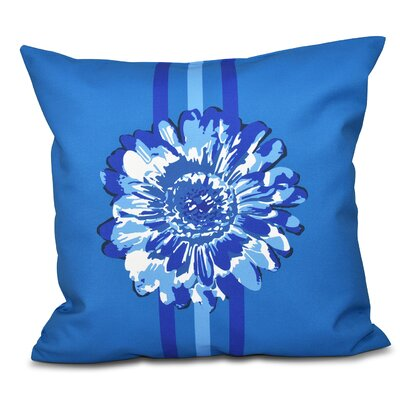 Willa Flower Child 2 Outdoor Throw Pillow Color: Blue, Size: 18 H x 18 W