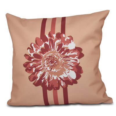 Willa Flower Child 2 Outdoor Throw Pillow Size: 18 H x 18 W, Color: Coral
