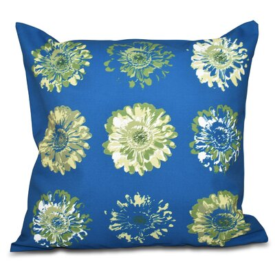 Willa Floral 2 Outdoor Throw Pillow Size: 18 H x 18 W, Color: Teal/Green