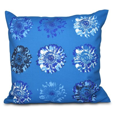 Willa Floral 2 Outdoor Throw Pillow Color: Blue, Size: 20 H x 20 W