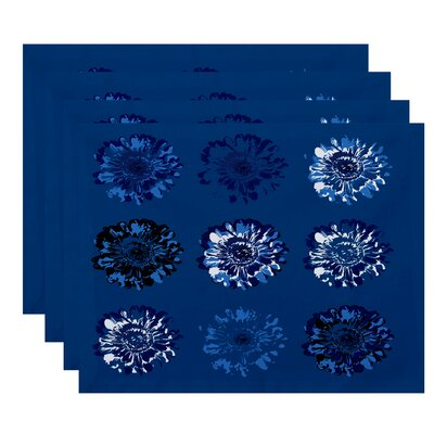 Willa Floral 2 Print Placemat Color: Blue