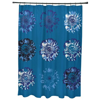 Willa Gypsy Floral 2 Print Shower Curtain Color: Blue