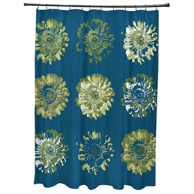 Willa Gypsy Floral 2 Print Shower Curtain Color: Green