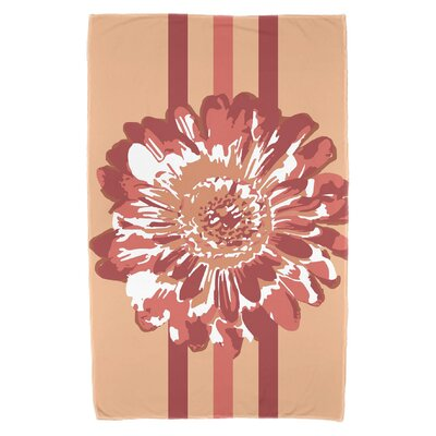 Willa Flower Child 2 Beach Towel Color: Coral BNGL5690 32110079