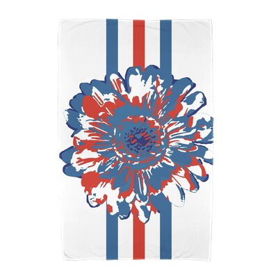 Willa Flower Child Beach Towel Color: Blue/Orange