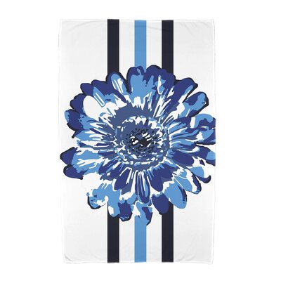 Willa Flower Child Beach Towel Color: Blue