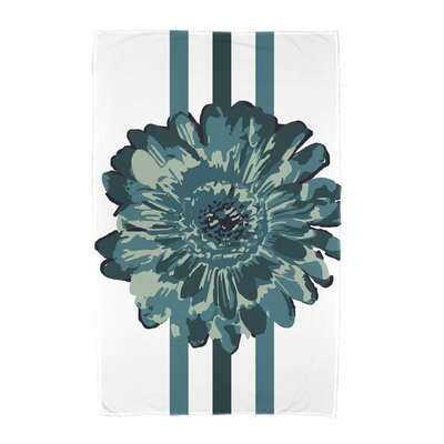 Willa Flower Child Beach Towel Color: Teal
