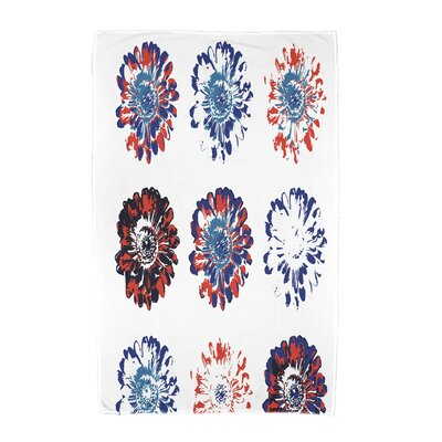 Willa Floral Beach Towel Color: Blue/Orange