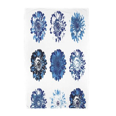 Willa Floral Beach Towel Color: Blue