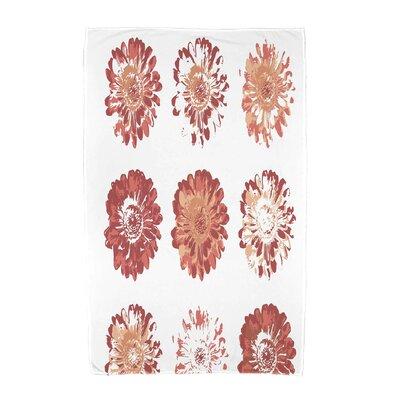 Willa Floral Beach Towel Color: Coral