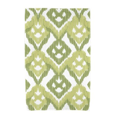 Willa Gypsy Floral Beach Towel Color: Green