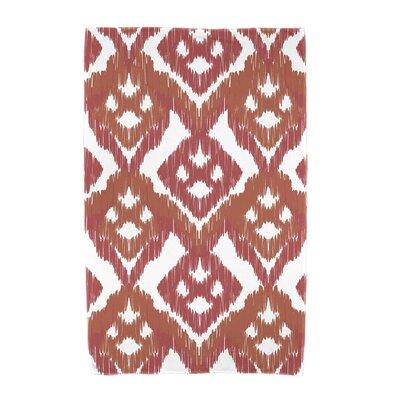 Willa Gypsy Floral Beach Towel Color: Coral