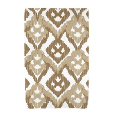 Willa Gypsy Floral Beach Towel Color: Taupe/Beige
