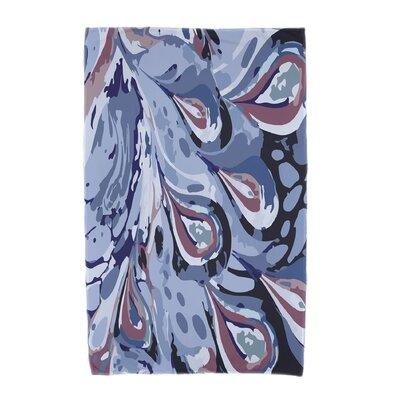 Willa Boho Splash Beach Towel Color: Blue