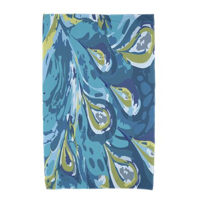 Willa Boho Splash Beach Towel Color: Turquoise